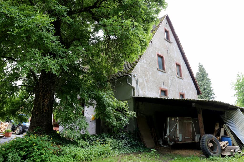 Die Rippersmühle in Rimbach - ehemalige Mühlradseite