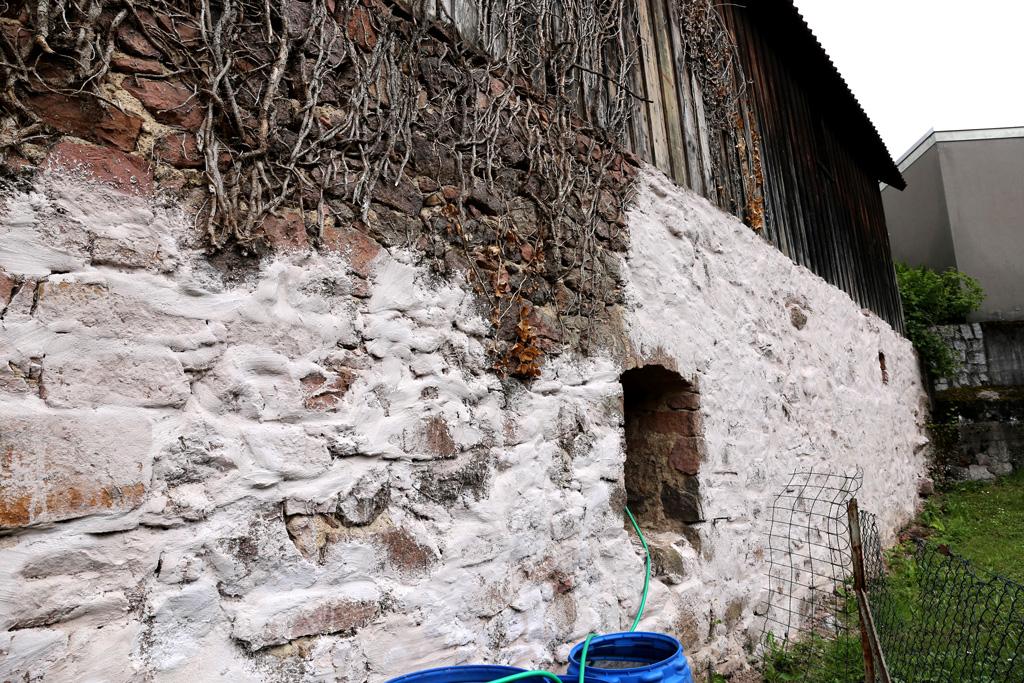 Die Buckelsmühle in Rimbach - alte Schneidmühle Restmauer